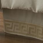 Wildcat Territory Natural Linen/Bronze Milos Key Bed Skirt
