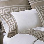 Wildcat Territory Ivory Linen/Pewter Milos Key Pillowcase