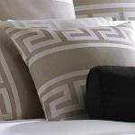 Wildcat Territory Ivory Linen/Pewter Milos Key Decorative Pillow