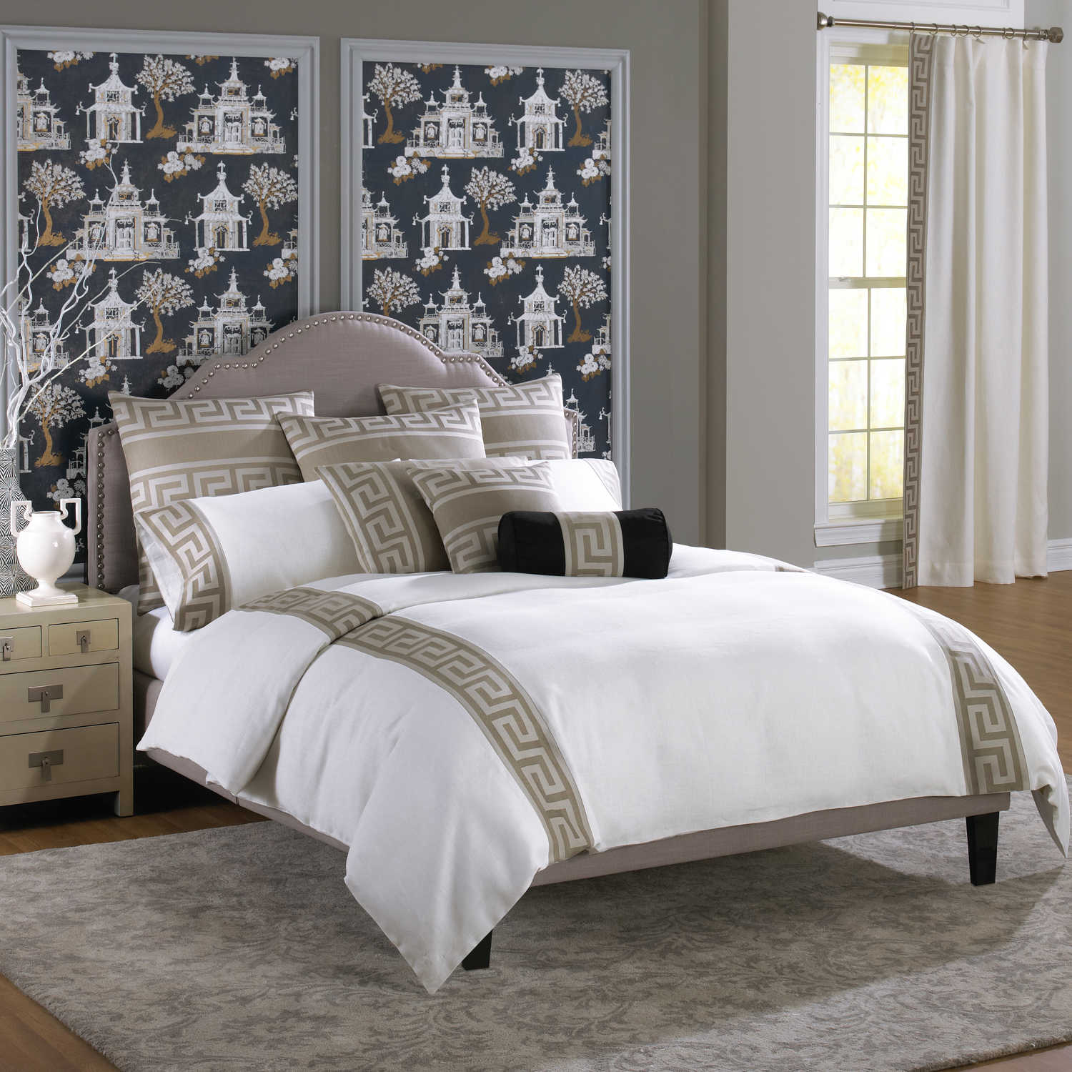 Wildcat Territory Bedding - Milos Key Pewter Collection Swatch