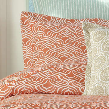 Wildcat Territory Bedding Coral Niki Woven  Sham