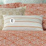 Wildcat Territory Mandarine Wide Stripe Decorative Pillow