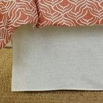 Wildcat Territory Ivory Linen Bed Skirt