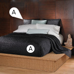 Wildcat Territory Bedding Shanti Black Coverlet Set