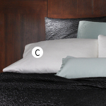 Wildcat Territory Shantung Pearl with Minerva Wave Topstitching Pillowcase