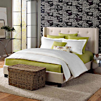 Features a Duvet Cover Simple Set with KHARMA Coverlet.