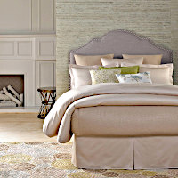 Features a Duvet Cover Simple Set with KHARMA Coverlet package.