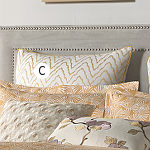 Wildcat Territory Bedding Amber Embroidered Moire Euro Sham