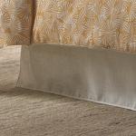 Wildcat Territory Snow Saxon, Sheer Weave - Double Layered Bed Skirt