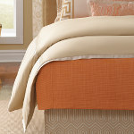 Wildcat Territory Camel Lexi Duvet Cover w/Inset in Side Seams of Froth Glamor & Almond Shagreen