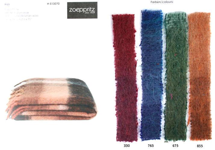 Zoeppritz Hair Mohair/Virgin Wool Throw.