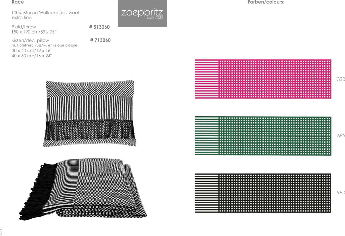 discontinued zoeppritz race throw and dec pillow. Black Bedroom Furniture Sets. Home Design Ideas