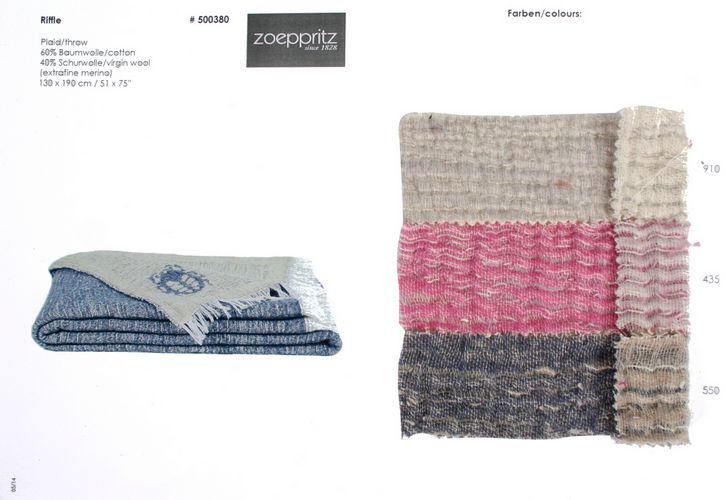 Zoeppritz Riffle Cotton/Wool Wool Throw.